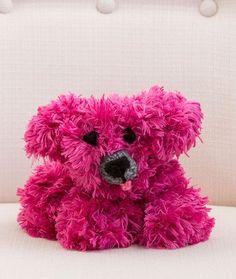 Precious Puppy Free Knitting Pattern in Red Heart Yarn