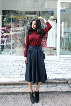 Shunichell Long Skirt | Korean Fashion #KoreanFashion