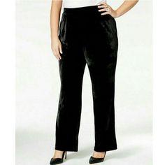 NY Collection Woman Black Velvet Bootcut-Leg Pants NWT Plus size 2X