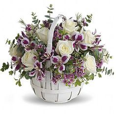 Send Easter Flowers from Angelone's Florist - for delivery in the Raritan, NJ area. Angelone's Florist - in Raritan offers a wide selection of Easter Flowers. Basket Flower Arrangements, Beautiful Flower Arrangements, Silk Flowers, Floral Arrangements, Beautiful Flowers, Basket Of Flowers, Arte Floral, Deco Floral, Easter Flowers
