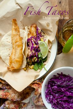 Fried Fish tacos with Spicy Tartar Sauce; coat fish in beer batter & fry 3 mins each side. Fill a warm corn tortilla with cabbage, cilantro, onions, tomatoes & cheese. Tartar sauce; mix sour cream, mayo, 1/4 tsp cayenne, 1tsp paprika, 1/2 tsp chili powder, 1/8 c jalapeno juice, 1/4c lime juice.