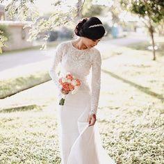 by fav designer Malay Wedding Dress, French Wedding Dress, Gorgeous Wedding Dress, Beautiful Bride, Wedding Poses, Wedding Bride, Dream Wedding, Wedding Stuff, Wedding Ideas