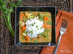 This Coconut Vegetable Curry is easy, satisfying, delicious, and VEGAN! Your taste buds will thank you. Step by step photos.
