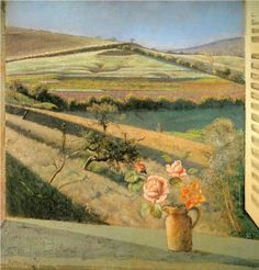 The bouquet of roses on the window - Balthus