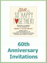 60th Wedding Anniversary Invitation Ideas For Parents Wedding Anniversary Invitations, 60 Wedding Anniversary, Year
