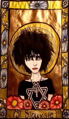St Siouxsie, Patroness of the noctourne. artwork by Clinton meister 2016 #Siouxsie #cmeisterartz