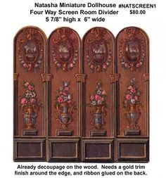 Laura DuBois Miniatures And Collectibles: Room Civider Screens
