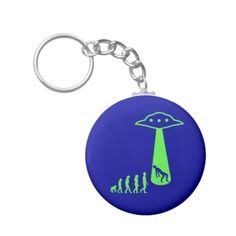 UFO Abduction Evolution Steps Keychain #Keychain #UFO #UFOabduction #Alien #Evolution #Ancientaliens