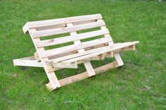 Pallet bench.....two separate pieces...easy to store