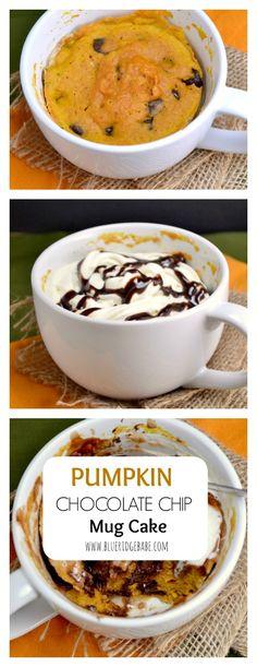 Pumpkin Chocolate Chip Mug Cake - the perfect fall dessert!