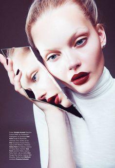 """Beauty in the Mirror"" Marlen Nohl for Harper's Bazaar Serbia 2015"