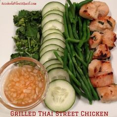 Grilled Thai Street Chicken {175 calories per serving}