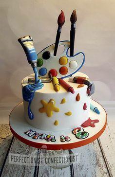 Myka - Artist birthday cake