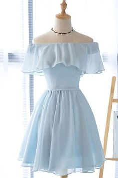 Beautiful Light Blue Party Dress Charming Blue Bridesmaid Dress Part. - Beautiful Light Blue Party Dress Charming Blue Bridesmaid Dress Party Dress – Source by - Light Blue Homecoming Dresses, Formal Dresses For Teens, Prom Dresses Blue, Sexy Dresses, Fashion Dresses, Dresses For Work, Elegant Dresses, Wedding Dresses, Summer Dresses