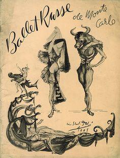 By Salvator Dali, 1 9 4 1,  Ballet Russe de Monte-Carlo.