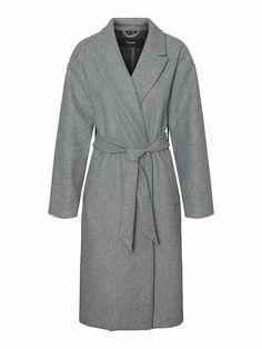 Fortune long wrap coat | GREY Long Jackets, Jackets For Women, Wrap Coat, Models, Outerwear Women, High Heel Boots, Mens Tops, How To Wear, Style