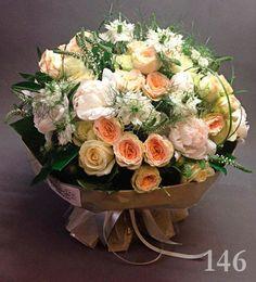 Пионы, пионовидные розы, нигелла, вероника (арт. 146)