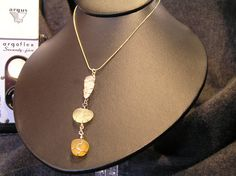 Wire Wrapped Beach Glass Trio with Gold by LakeErieHarmony on Etsy, $47.00
