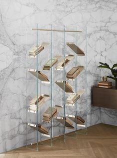 Freestanding crystal bookcase ISOLA - @gallottiradice