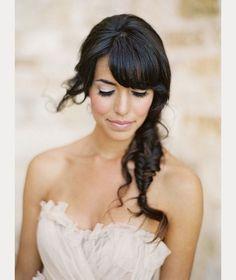 bride with bangs ~ we ❤ this! moncheribridals.com