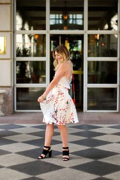 Dreamy Floral Skirt | Audrey Madison Stowe Blog