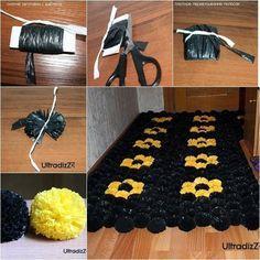 Decorar con alfombra de pompones plásticos ¡te gustará!