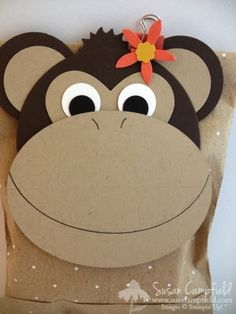 Celebrate Summer Monkey Treat Bag by suestampfield - Cards and Paper Crafts at Splitcoaststampers