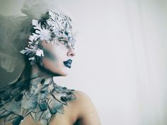 """""""The Ice Diva""""  Makeup and hairpiece by Taru Haili"""