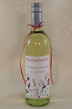 """Hochzeitswein-Etikett """"Bloom"""" Bloom, Bottle, Drinks, Rose, Wine, Drinking, Beverages, Pink, Flask"""