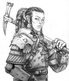 Rinn warrior: Ursa of Erengrad by Spacefriend-T
