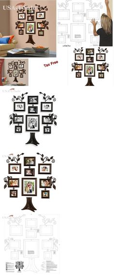 Frames 79654: Family Tree Collage Photo Picture Frame Set Wall Art Home Decor Decoration Gift -> BUY IT NOW ONLY: $61.72 on eBay!
