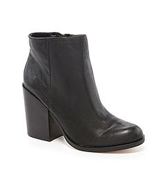DV by Dolce Vita Marlyn Booties leather black 3.5h sz7.5 130.00