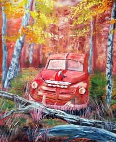 Vintage Discovery (Oil on canvas)