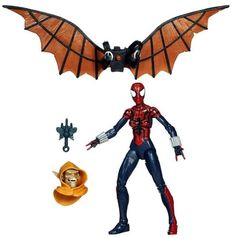 These heroines trap evil-doers with web-slinging super powers! Build your own winged Hobgoblin figure with the parts that come with these cool Marvel Legends Infinite Series figures! This Spider-Girl figure has the web-slinging powers to outwit her villainous foe, and she also comes with a head and wing parts for you to build a Hobgoblin figure! #hasbro #marvellegends #avenger #toy #actionfigure #collectible