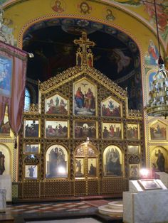 St Basil Russian Orthodox Church | Go Back > Pix For > Inside Orthodox Church