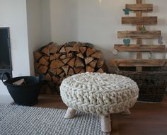 our scrap wood christmas tree by the style files, via Flickr