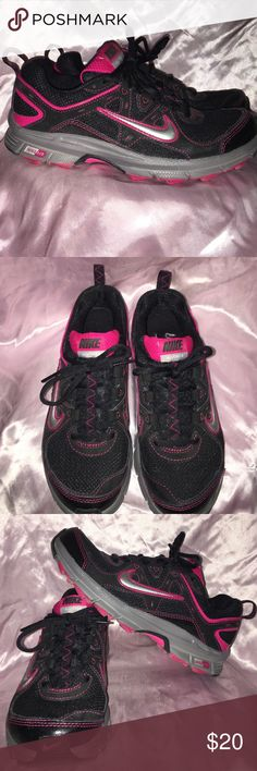 Womens Nike Alvord 9's Blk&Pnk Sz 6.5 Alvord 9's Black and Pink Nikes. Great used condition. Sz 6.5 women's.   No scuffs or tears Nike Shoes Athletic Shoes