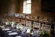 Beautiful Table Flowers at The Walled Garden Midhurst