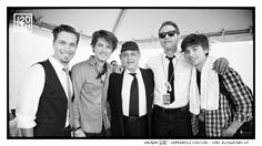Photo 11 of 365  HANSON 2010 - Bamboozle Festival - East Rutherford NJ    This is a snap of us at the 2010 BamboozleFestival with two legends - Tom 'Bones' Malone and Alan 'Mr Fabulous' Rubin, who we had the honor to perform with a few times. Both are legends of American Music and Blues Brothers Alumni. Alan is no longer with us, and another Blues Brothers legend Donald 'Duck' Dunn passed away last week, RIP.  #hanson #hanson20th www.hanson.net