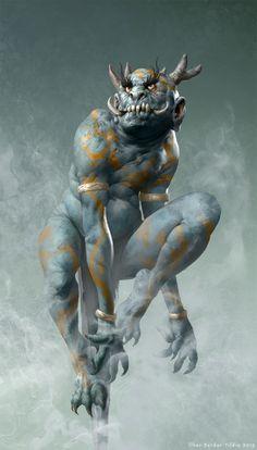 Demon, Ilker Serdar Yildiz on ArtStation at https://www.artstation.com/artwork/WgAX