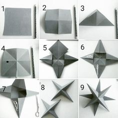 How to Make Paper Stars From Lunch Bags - Babble Dabble Do 3d Paper Star, Paper Stars, Paper Ornaments, Diy Christmas Ornaments, Christmas Christmas, Paper Crafts Origami, Diy Paper, 3d Origami Stern, Crafts To Make