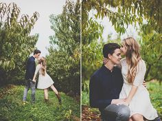 Virginia apple picking engagement | Meagan Abell Photography | Glamour & Grace