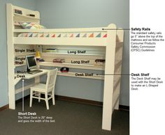 College Dorm Loft Bed Kits Woodworking Projects Amp Plans