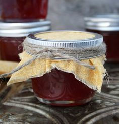 Pomegranate jelly made from fresh pomegranate juice. Don't let the lengthy directions scare you off. It's actually quite simple. Pomegranate Jelly, Pomegranate Ideas, Sterilizing Canning Jars, Canning Rack, Jam And Jelly, Plum Jelly, Tasty Kitchen, Kitchen Recipes, Jelly Jars