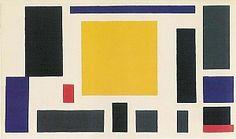 Theo van Doesburg, Compositie VIII (de koe), ca. 1918, olieverf op doek, 38 x 64 cm, Museum of Modern Art, New York, VS