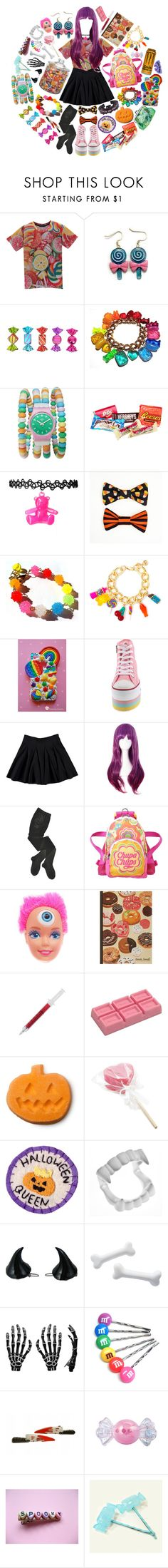 """""""Trick or Treat"""" by sw-13 ❤ liked on Polyvore featuring Hard Candy, Hershey's, Dylan's Candy Bar, HYD, Chupa Chups, Rachael Ray and Kreepsville 666"""