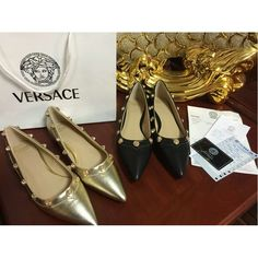 Versace 34-42 Leather Flats vers2015042608