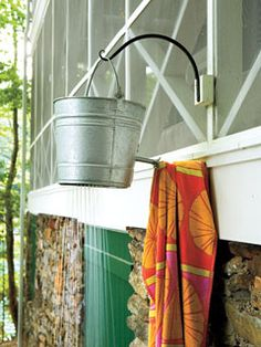 Love, love this outdoor shower idea- clipped this same pic from a magazine years ago & saved