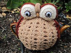 Cubre tetera. Crochet. Buho