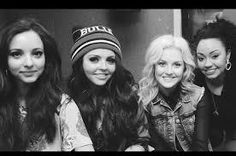 Little Mix looking gorgeous and  cute in black and white